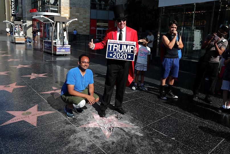 حذف ستارۀ دونالد ترامپ از پیادهروی مشاهیر هالیوود