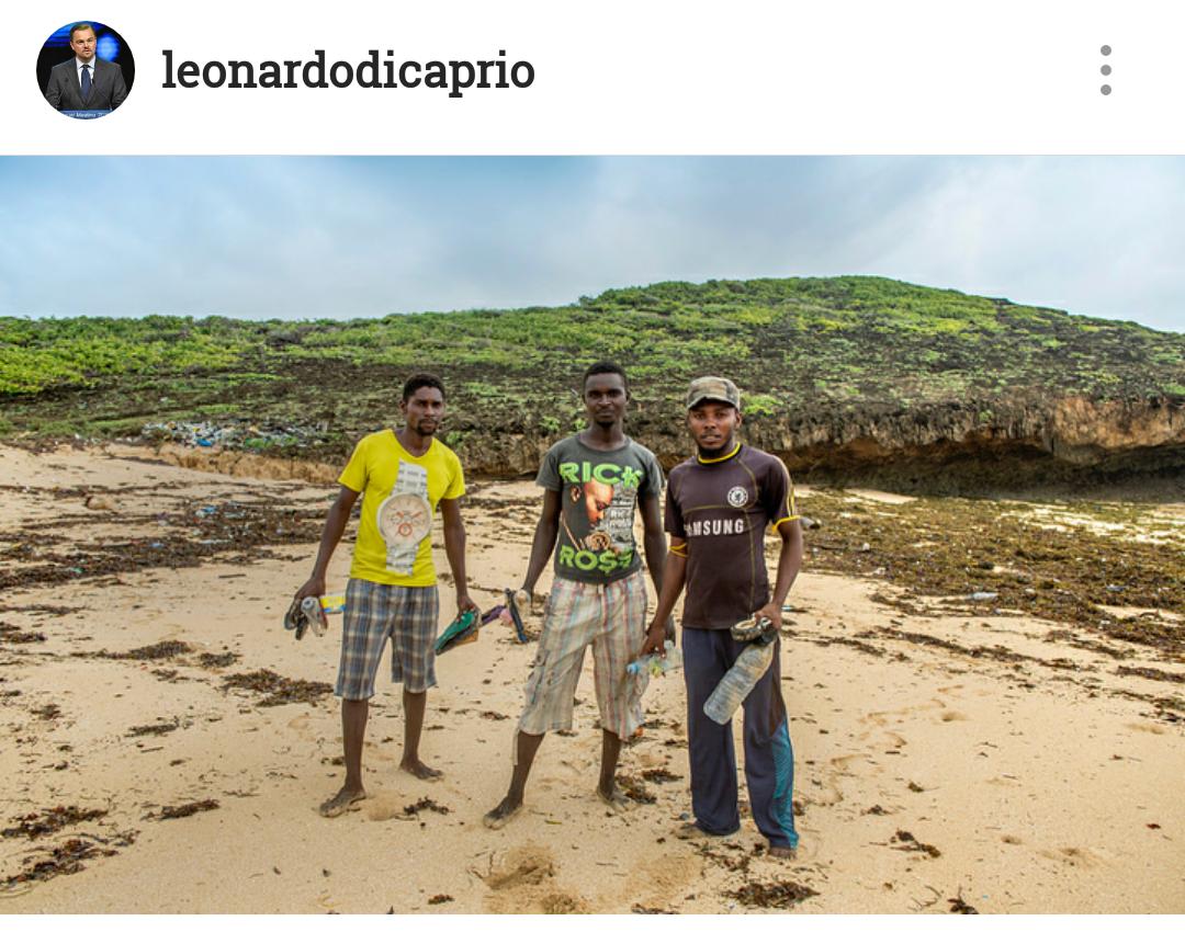 تصویر اینستاگرام دی کاپریو از پلاستیک در دریاها