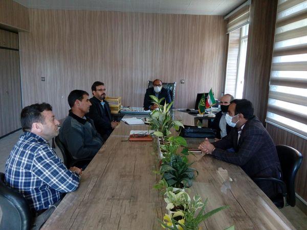 جلسه ستاد سن غلات جهاد کشاورزی چناران با حضور مسئول ستاد سن
