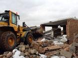 قلع و قمع 4 مورد از ساخت و سازهای غیرمجاز در اراضی کشاورزی روستاهای یام سیوان و شوردرق شهرستان مرند