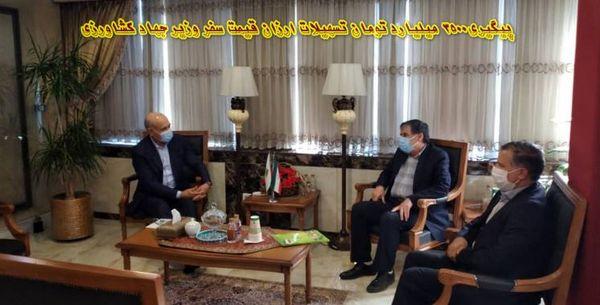 جلسه پیگیری تسهیلات ارزان قیمت سفر وزیر جهاد کشاورزی به خراسان شمالی برگزار شد