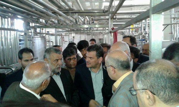 وزیر جهادکشاورزی از شرکت صنایع لبنی گلزار بازدید کرد