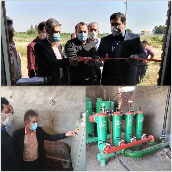 افتتاح دو طرح آبیاری تحت فشار در تاکستان