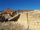 ۵ مورد ساخت و ساز غیر مجاز در اراضی کشاورزی شهرستان البرز تخریب شد
