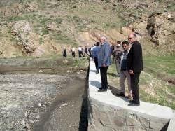 بازدید رئیس سازمان جهادکشاورزی استان از پروژه گلار شهرستان صالح آباد
