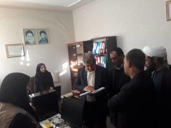 بازدید رئیس سازمان جهاد کشاورزی استان کرمان از مرکز خدمات کشاورزی ماهان
