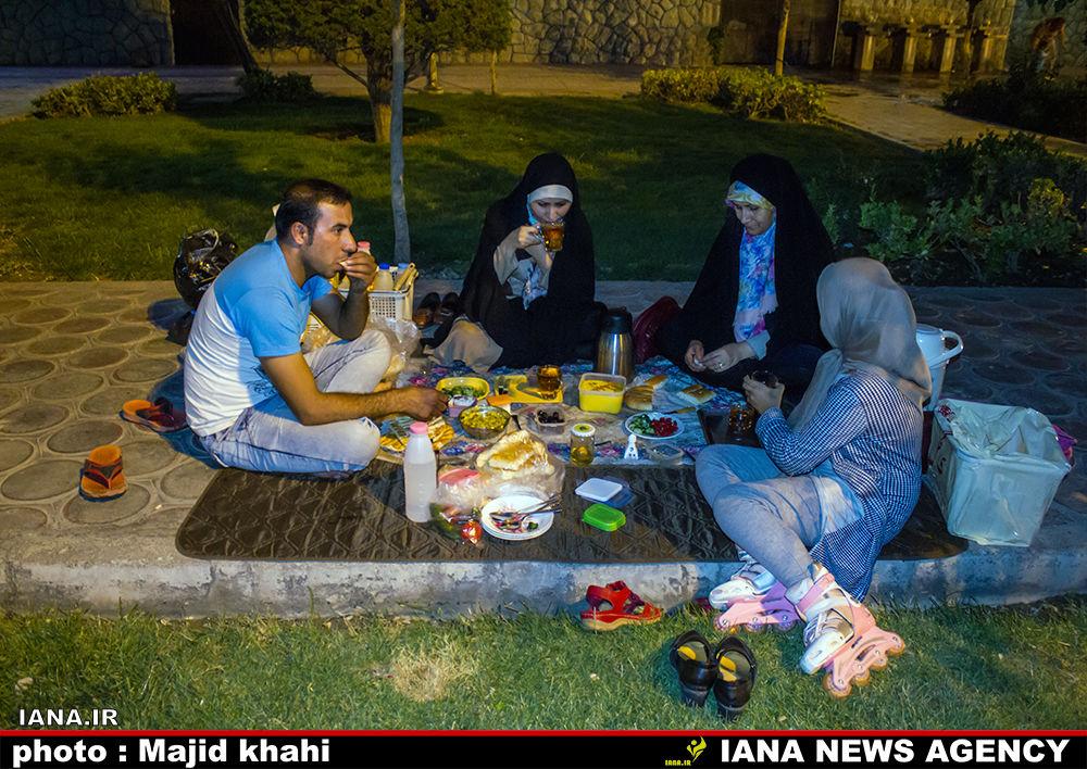 افطار در فضای سبزشهری
