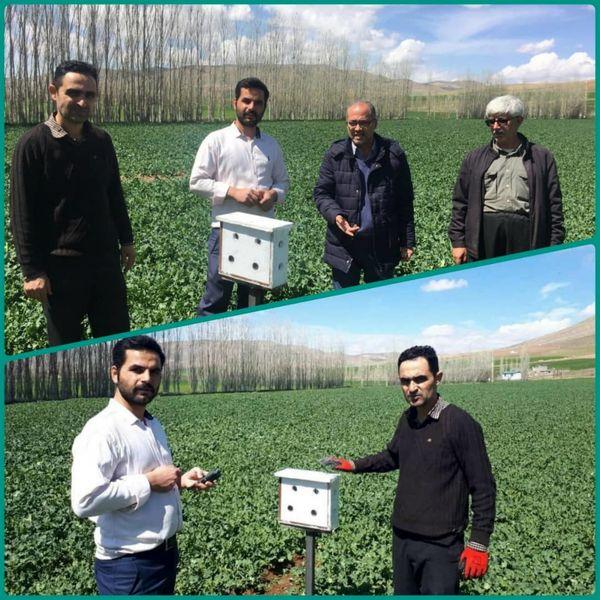 نصب دستگاه دیتالاگر هواشناسی در شهرستان بوکان
