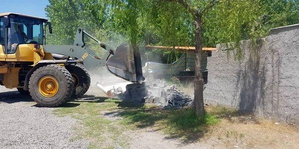 سه هکتار از زمینهای کشاورزی بافق رفع تصرف شد