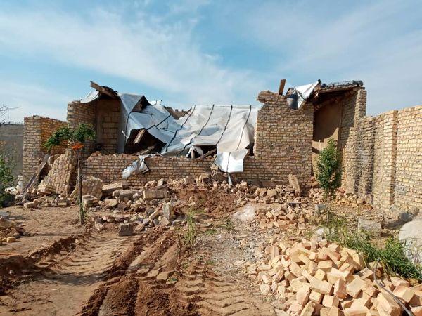 تخریب ببش از هزارمتر از ساخت وسازهای غیرمجاز در اراضی کشاورزی ورامین