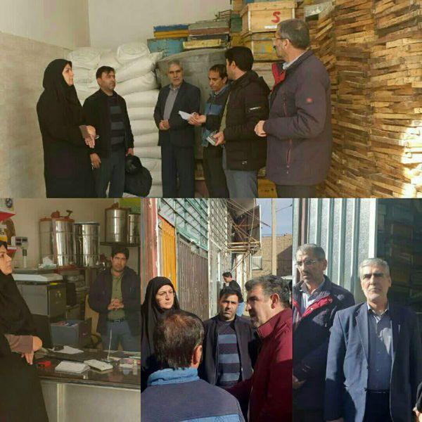 بازدید مدیر جهاد کشاورزی اسفراین از شرکت زنبورداری ملکه و انبارهای دپوی شکر
