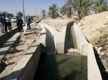 افتتاح یک کانال آبیاری در کازرون