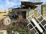 تخریب بناهای غیرمجاز در زمینهای کشاورزی بابل