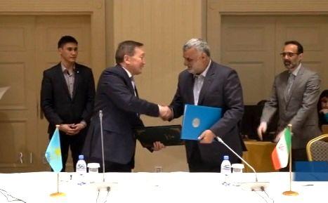 سند همکاری های اقتصادی ایران و قزاقستان امضا شد