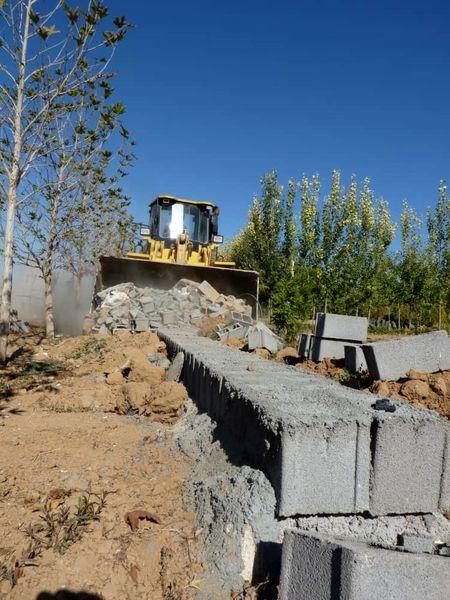تخریب 7 هکتار ساخت و ساز غیرمجاز در باغهای مرودشت