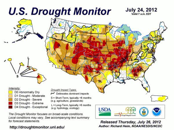 نقش تغییر اقلیم در ایجاد خشکسالی در آمریکا