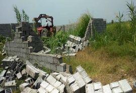 60 دیوارکشی غیرمجاز در بابل قلع و قمع شد