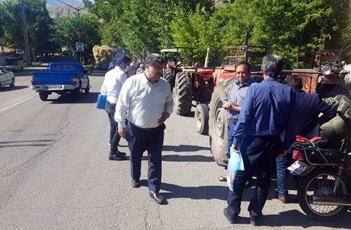 پلاکگذاری 110 دستگاه از ماشینهای کشاورزی در شهرستان هوراند