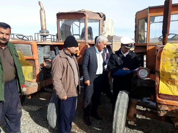 آغاز طرح شماره گذاری تراکتورهای کشاورزی و ادوات خودگردان کشاورزی شهرستان بن