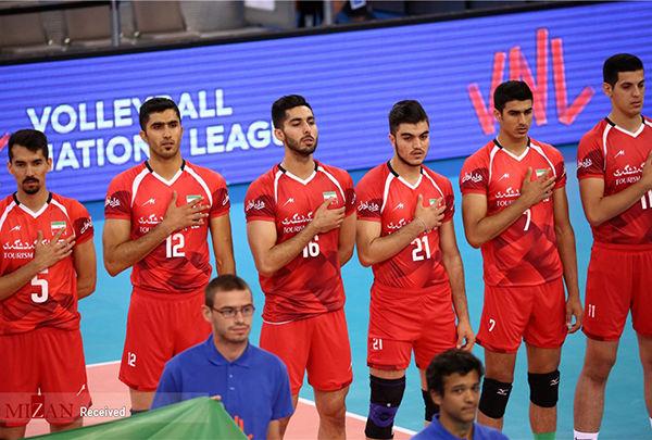 ملی پوشان والیبال ایران 3 - کوبا 1