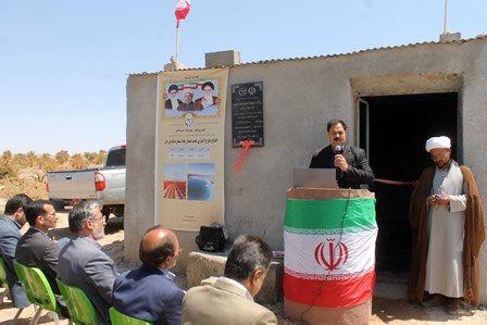 افتتاح طرح آبیاری تحت فشار چاه شماره یک فورجان در بیرجند