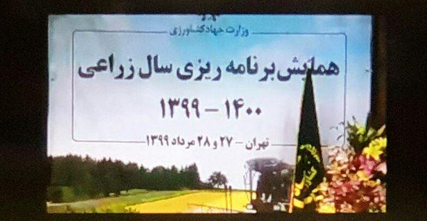 همایش برنامهریزی سال زراعی ١۴٠٠ - ١٣٩٩ وزارت جهادکشاورزی آغاز شد