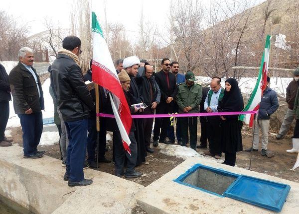 افتتاح طرح آبیاری کم فشار قنات شهرستان سربیشه در دومین روز دهه فجر