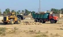 جمع آوری مصالح ساختمانی غیرمجاز در اراضی کشاورزی دیلم
