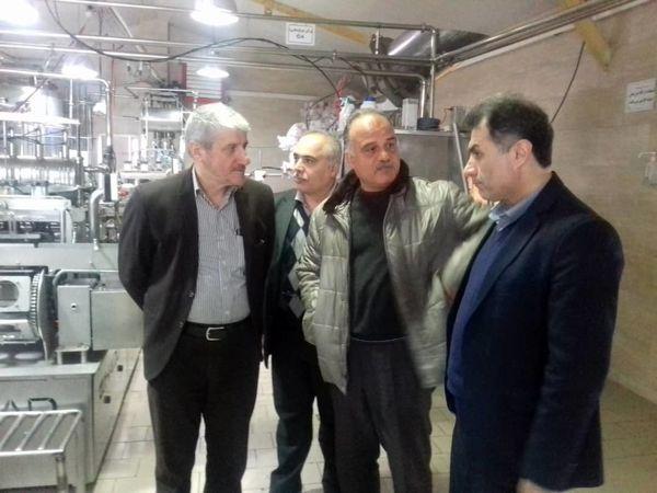 بازدید رئیس سازمان جهاد کشاورزی گیلان از شرکت صنعتی ۳۶۰۰ تنی لبنیات لاهیجان