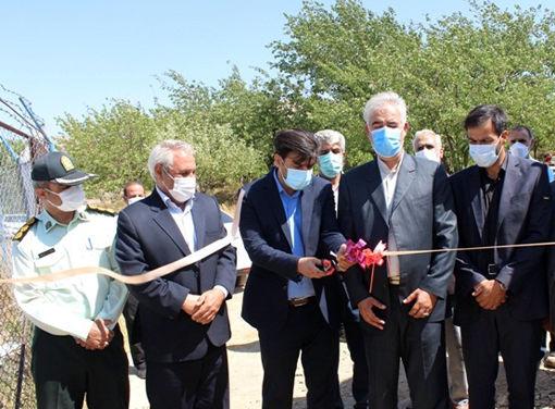 سامانه ضدتگرگ در ۱۰۰ هکتار از اراضی روستای زنوزق شهرستان مرند افتتاح شد