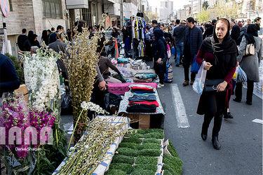 بازار گل به مناسبت آغاز سال نو