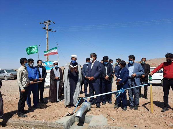 افتتاح پروژه آبیاری کم فشار چاه موتور بدر زنگوئی شهرستان سرایان