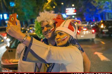 شادی شبانه مردم تهران