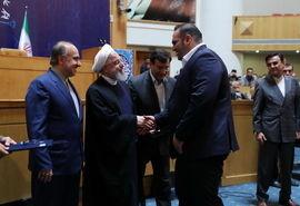 دیدار دکتر روحانی  با ورزشکاران