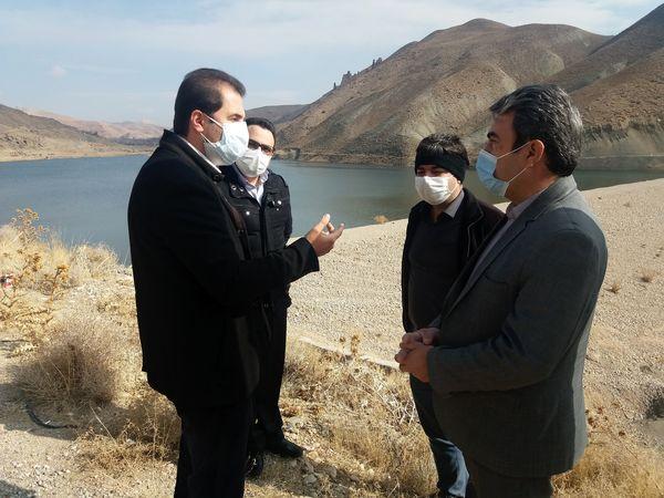 بازدید نماینده اداره کل پدافند غیرعامل استانداری تهران از سد شهدای روستای درده