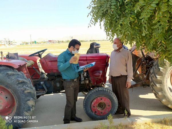 پلاکگذاری بیش از هزار دستگاه تراکتور و کمباین در شهرستان شهرکرد