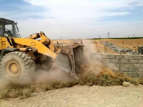 تخریب و آزاد سازی 3 هکتار از اراضی کشاورزی پاکدشت