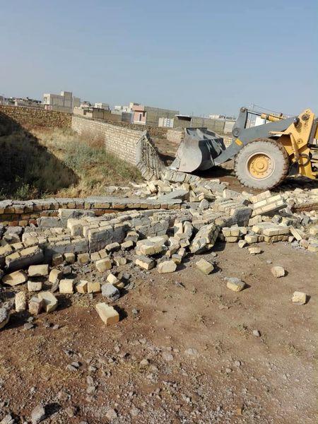 تخریب ۹۵ مورد ساخت و ساز غیر مجاز در حومه شهر تاکستان
