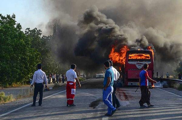 افزایش آمار آتشسوزی در جاده چالوس و طالقان