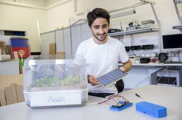 دانشجوی ایرانی باغچه معلق بدون خاک ساخت