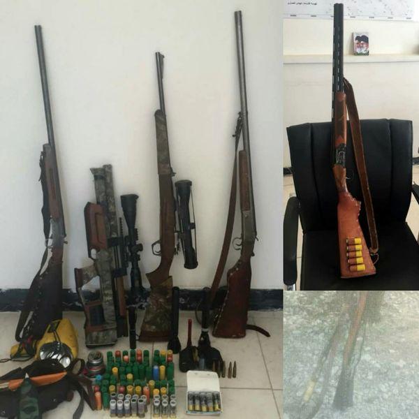 چهار گروه شکارچی در پاسارگاد فارس دستگیر شدند