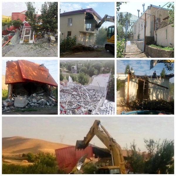 تغییر کاربریهای غیر مجاز در استان زنجان تخریب شدند