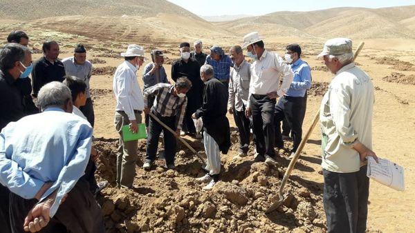 آموزش باغداران طرح احداث باغ دیم هارونی در شهرستان شهرکرد
