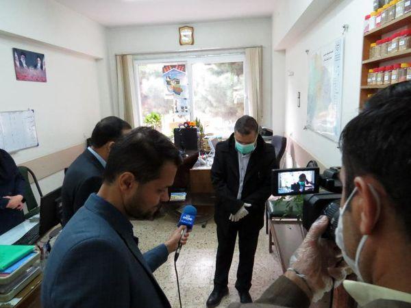بازدید سر زده از سازمان جهاد کشاورزی خراسان شمالی در اجرای مصوبات ستاد مقابله با کرونا