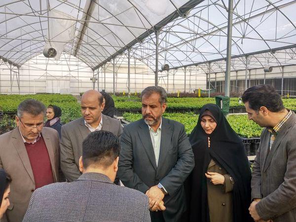بازدید استاندار قزوین از یک واحد تولید در آبیک