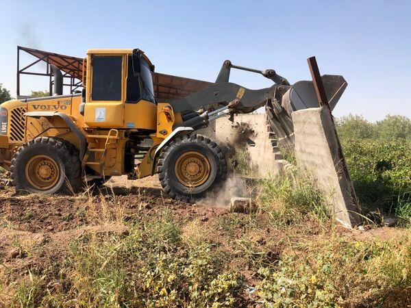 قلع و قمع ۴ مورد ساخت و ساز غیر مجاز در قزوین
