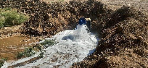 سیستمهای نوین آبیاری در اراضی خرامه اجرا می شود