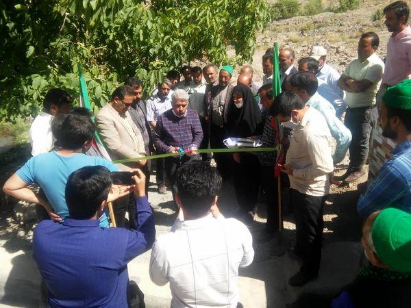 افتتاح قنات کشوک به نمایندگی از یازده طرح اجرایی سربیشه در هفته جهادکشاورزی