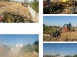 آزاد سازی 65 هکتار از اراضی کشاورزی در پاکدشت