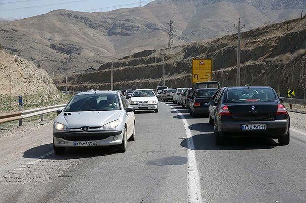 ترافیک نیمه سنگین در 4 جاده کشور